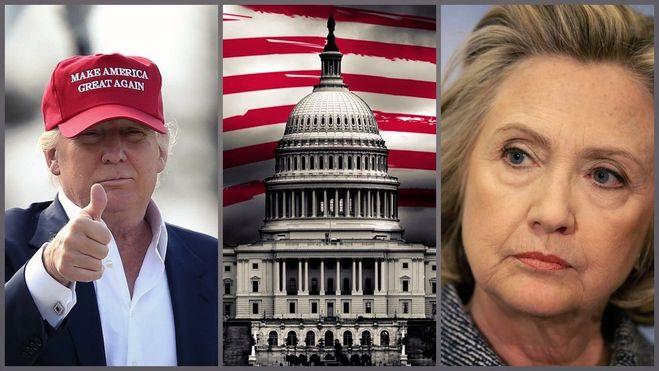 Клинтон против Трампа, выборы 2016 в США