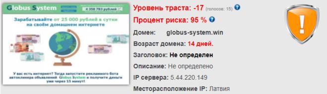 globus-system.win, отзывы
