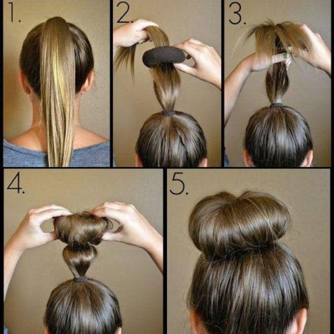 Как сделать красивую кубышку из волос фото