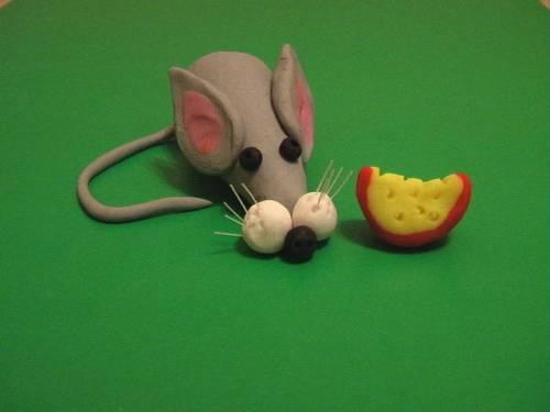 Как сделать из пластилина мышка 25