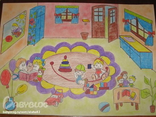 Наш любимый детский сад рисунки поделки 89