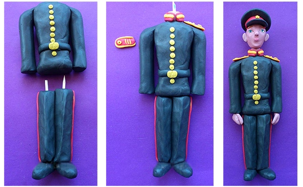 солдат из пластилина своими руками мастер-класс
