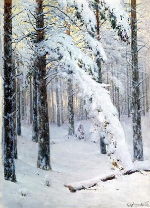 Крыжицкий лес зимой описание картины