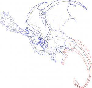 Девушка с драконом рисунок карандашом