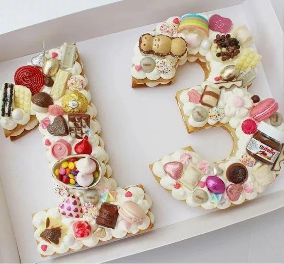 Торт цифра из печенья