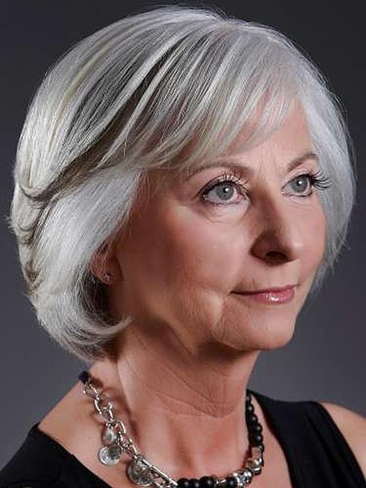 Прическа для бабушки на короткие волосы
