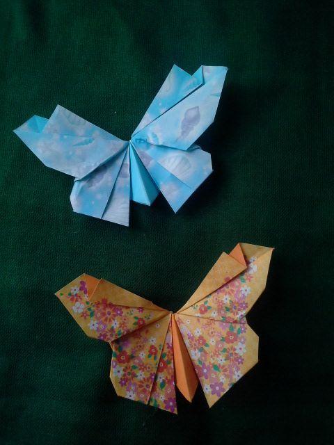 Как делать оригами бабочку в видео