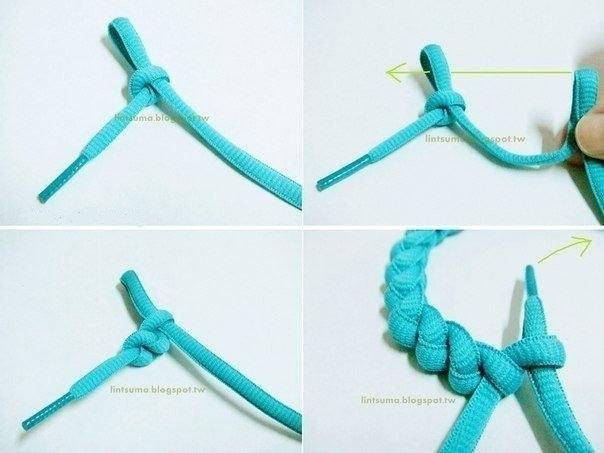 Плетение браслета из шнурков своими руками: схемы