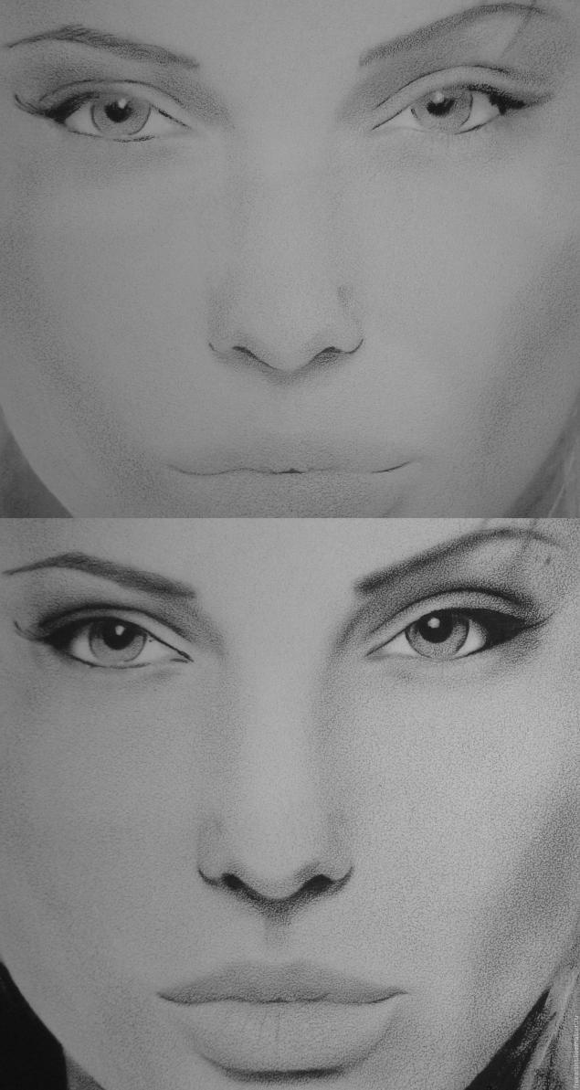 как нарисовать Анджелину Джоли1