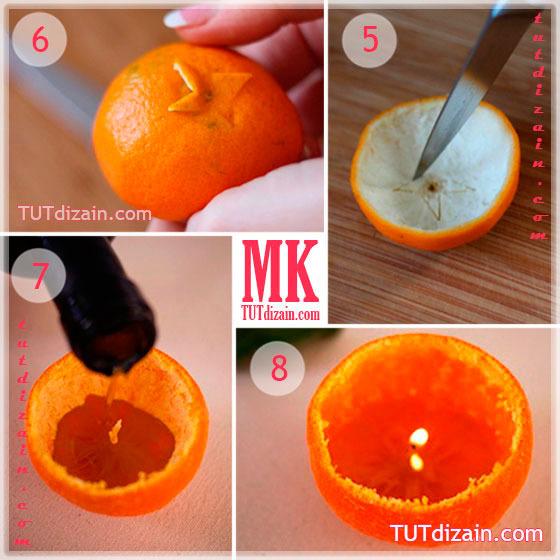Из чего сделать мандарины своими руками