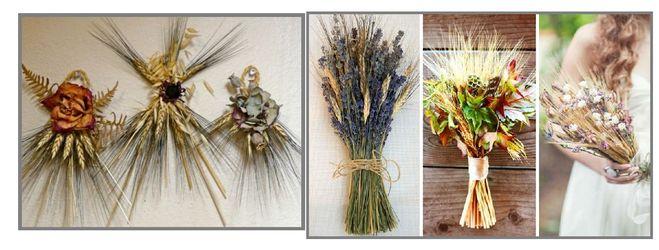 Букет из колосьев пшеницы своими руками 117