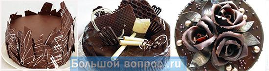 дизайн торта шоколадом своими руками