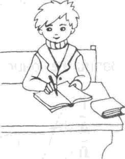 Школьники в рисунках поэтапно