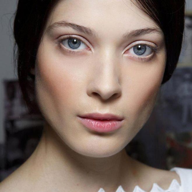 Natural face makeup