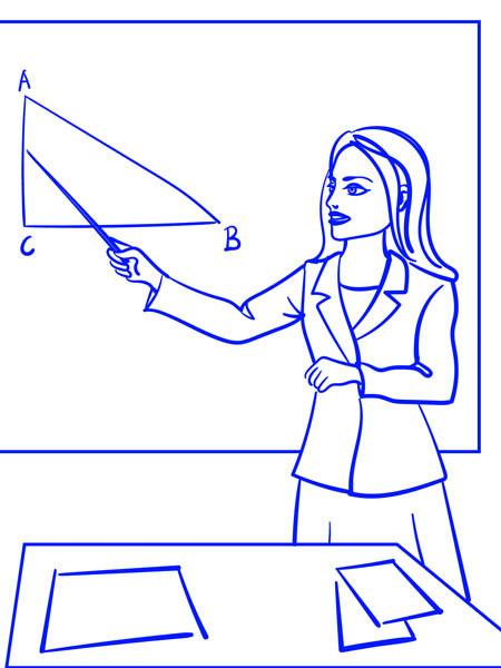 Учитель поэтапно рисунок