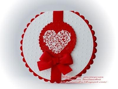 Как сделать круглую Открытку с сердечком