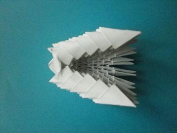 собака хаски модульное оригами мастер-класс