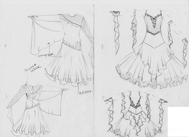 Эскизы платьев. как сшить платье 755