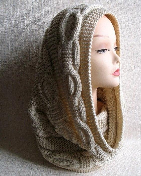 Снуд — схема вязания спицами.