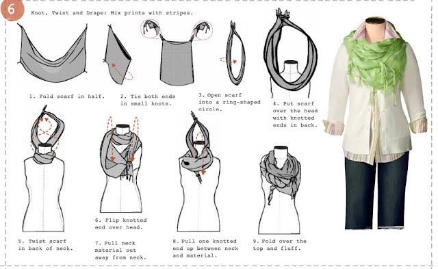 Как красиво завязать платок поверх куртки