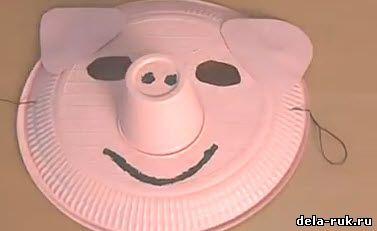 Как сделать маску свиньи своими руками изоражения