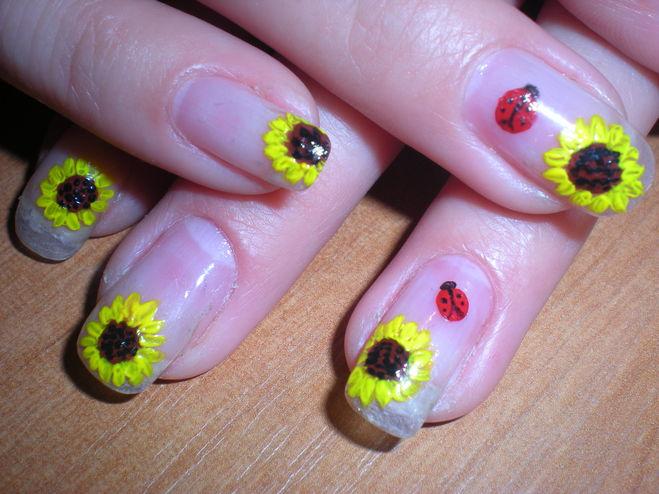 Рисунки акрилом на ногтях для начинающих фото