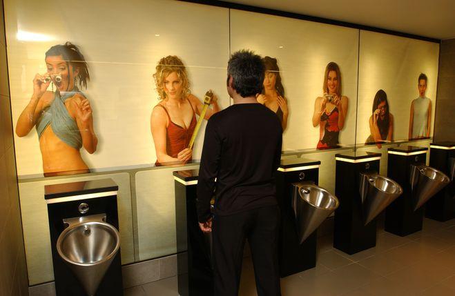 Видео мужской туалет