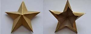 поделка объемная звезда для 9 мая