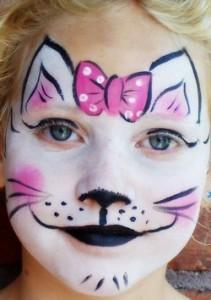 Как нарисовать кошку на лице