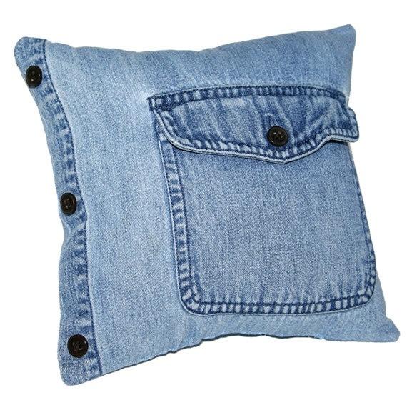 Подушка из старых джинсов своими руками выкройка