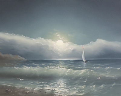 картинки море  нарисованное
