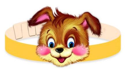 Маска собаки для ребнка к костюму