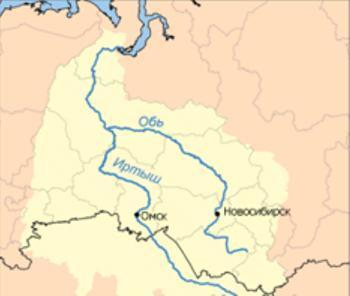 Куда течет река иртыш в омске схема фото 134