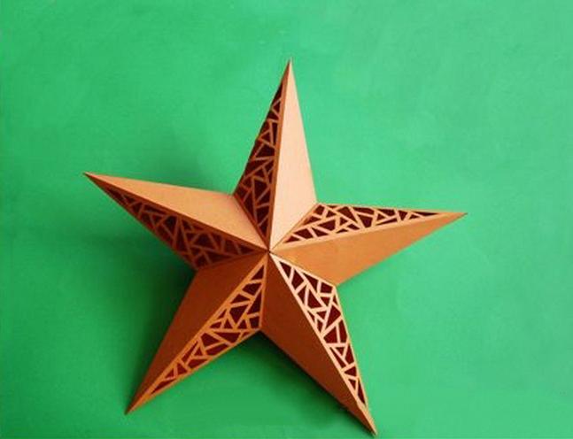 Как сделать праздничную звезду из бумаги