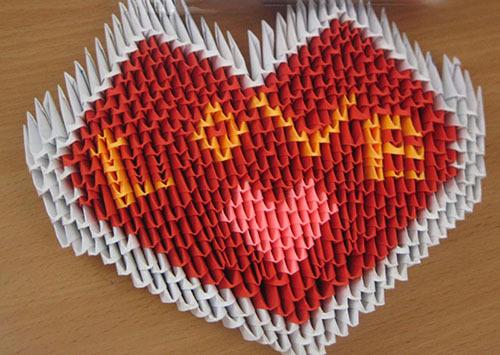 сделать сердце из модулей