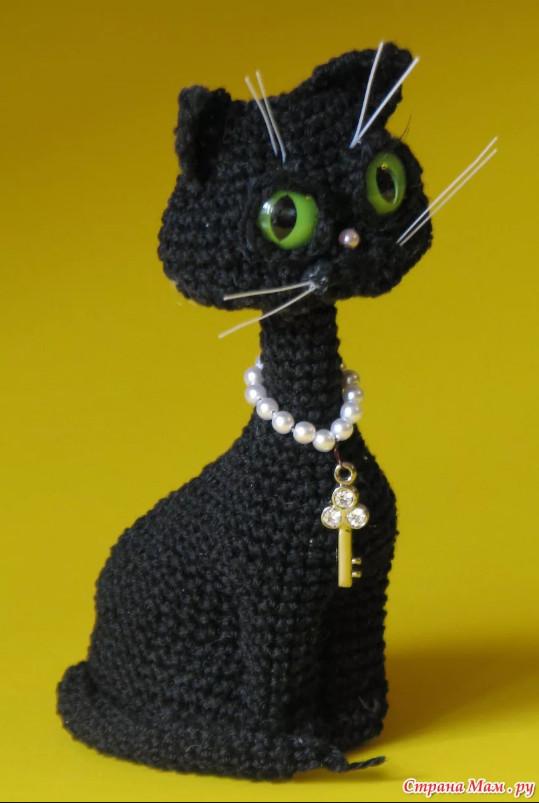 вяжем кошку крючком или спицами схема мастер-класс
