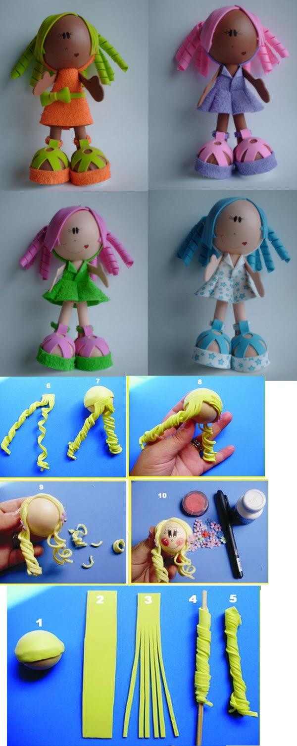 Фоамирана своими руками куклы
