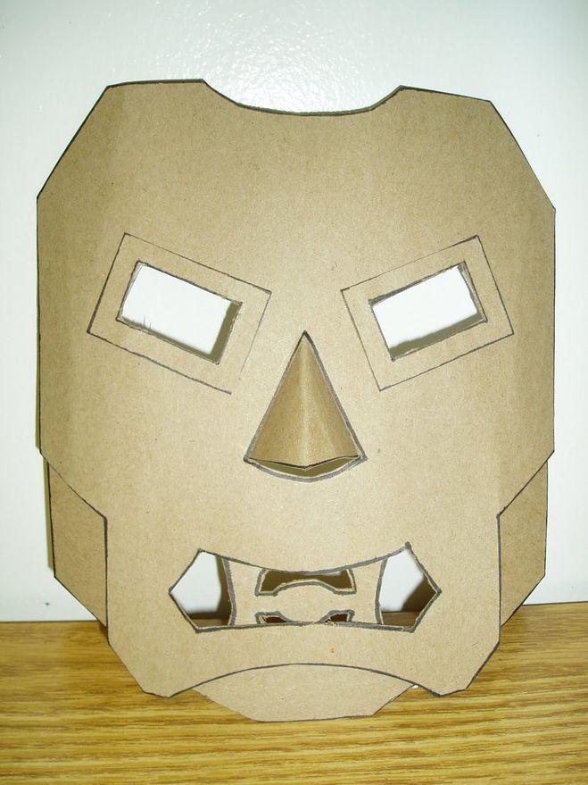 Как сделать маску хищника из бумаги