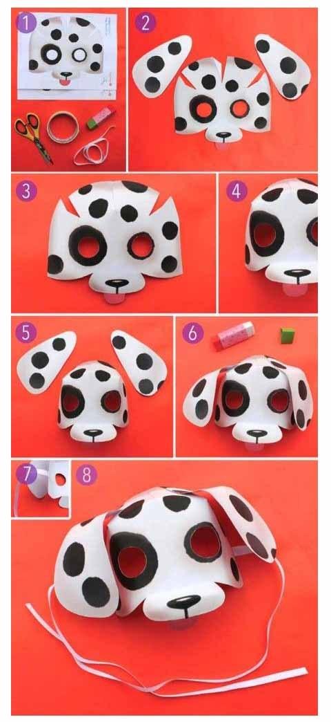маска собаки мастер-класс