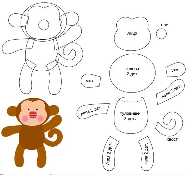 Как сделать обезьяну из ткани