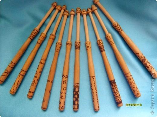 Точеная палочка для плетения кружев