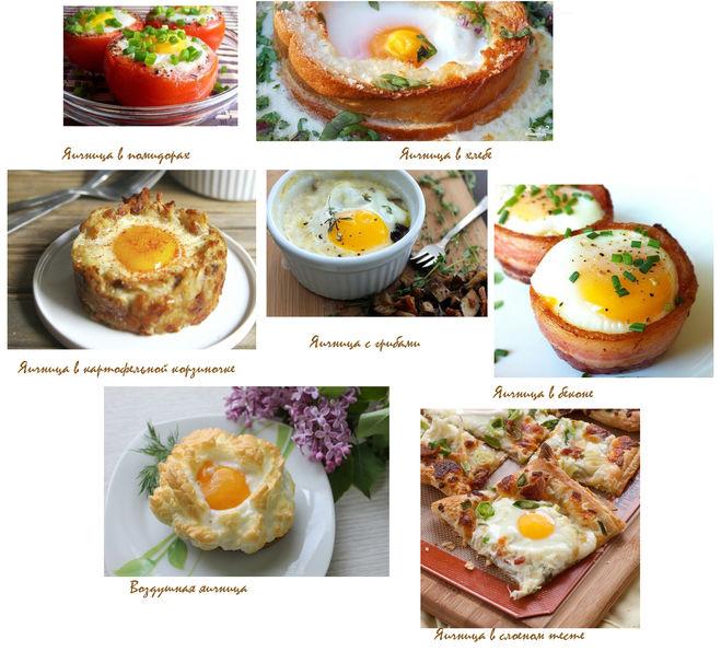 Рецепты как сделать яичницу