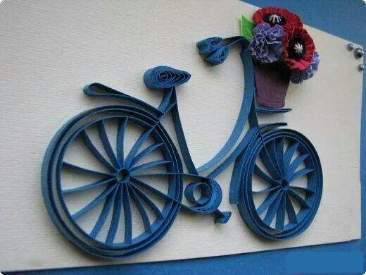 Поделки из квиллинга велосипед