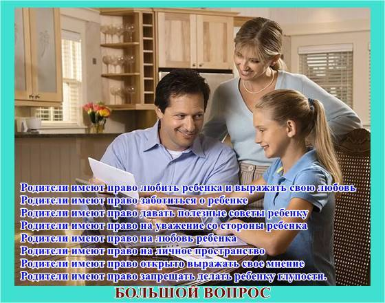 проект, декларация прав членов семьи