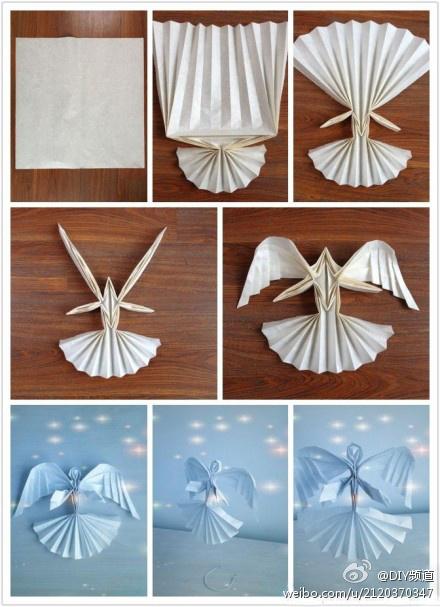 Схема модульного оригами ангела