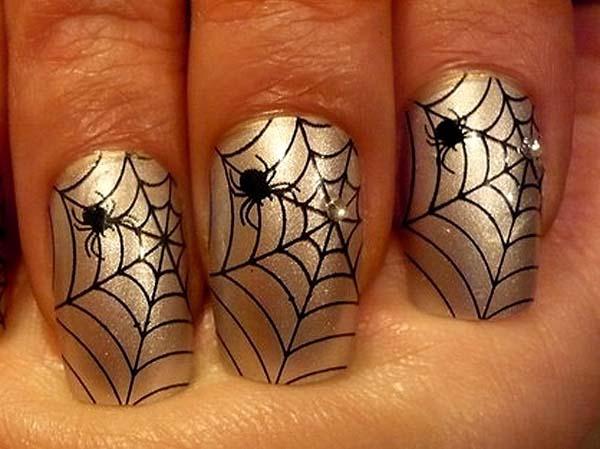 Дизайн ногтей с паутиной