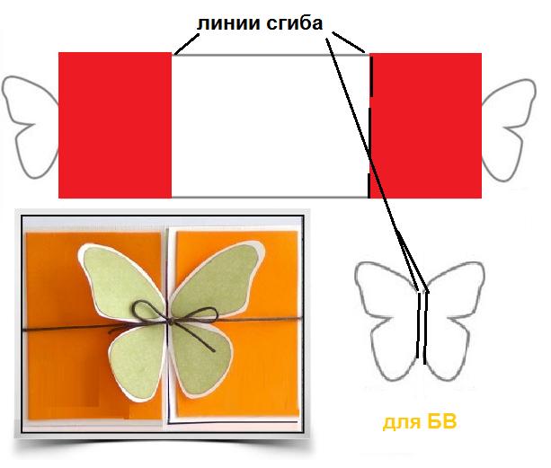 Бабочки в раскладных открытках 932