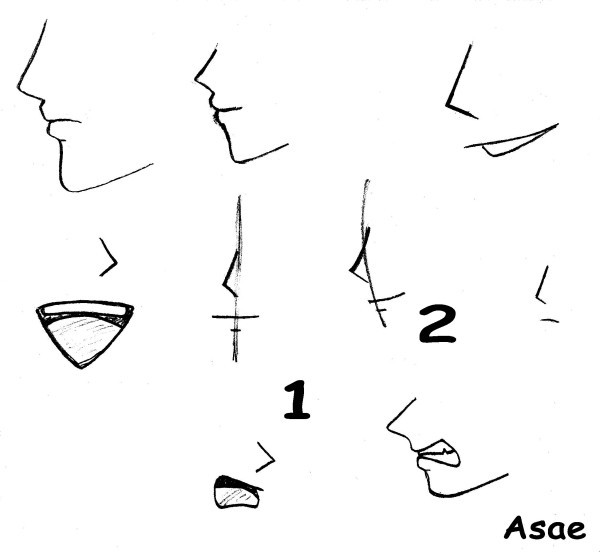 how to draw anime crooked nose