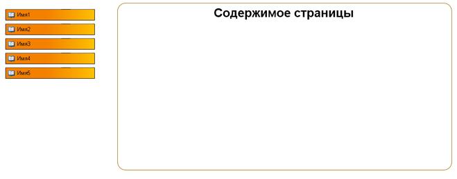 как сделать меню слева в html