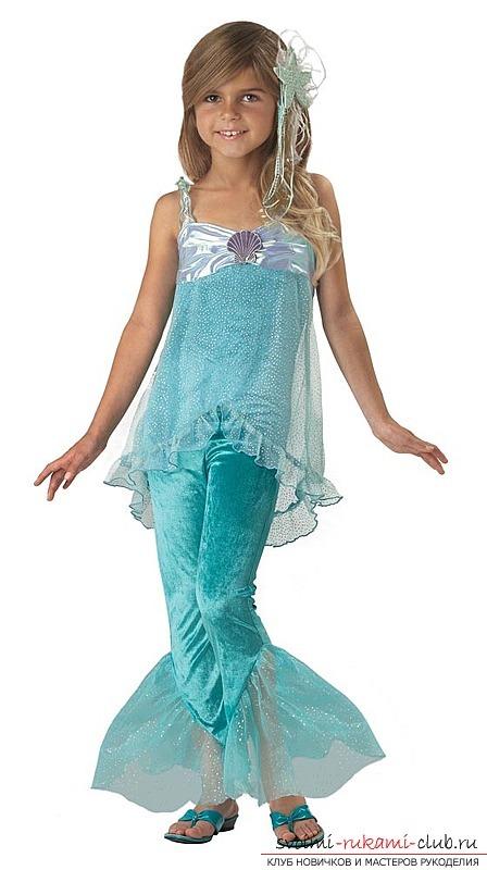Для девочки карнавальный костюм русалки со штанишками